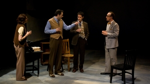 Cassidy Brown as Kurt Weill with Nancy Carlin as Cheryl Crawford, David Mendelsohn as Lee Strasberg and Michael Navarra as Clurman