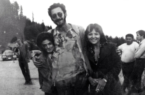 "Meg Foster, me, Brenda Vaccaro during the ""Sunshine"" shoot in Vancouver"