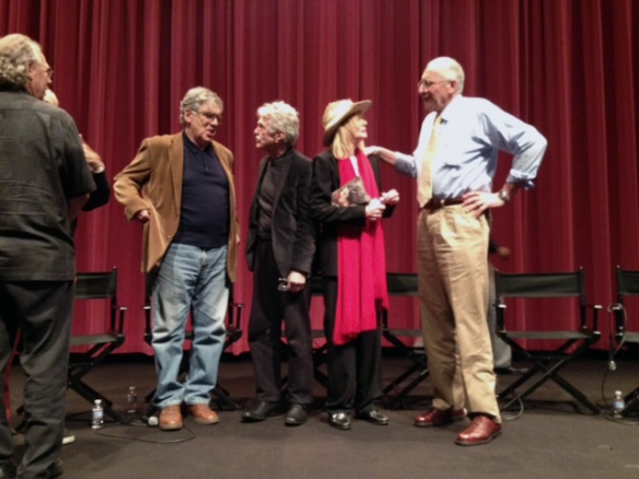 from l: Elliot Gould, Tom Skerritt, Sally Kellerman and me